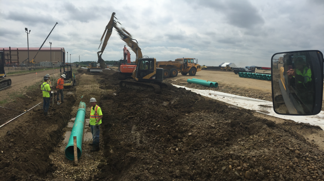 Commercial Water and Sewer Connection