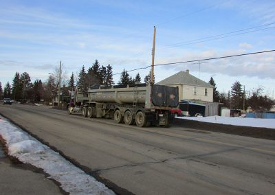 Truck and End Dump Trailer